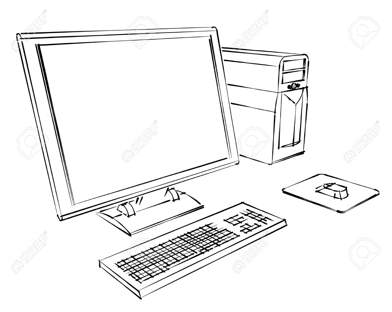 Monitor Drawing At Getdrawings