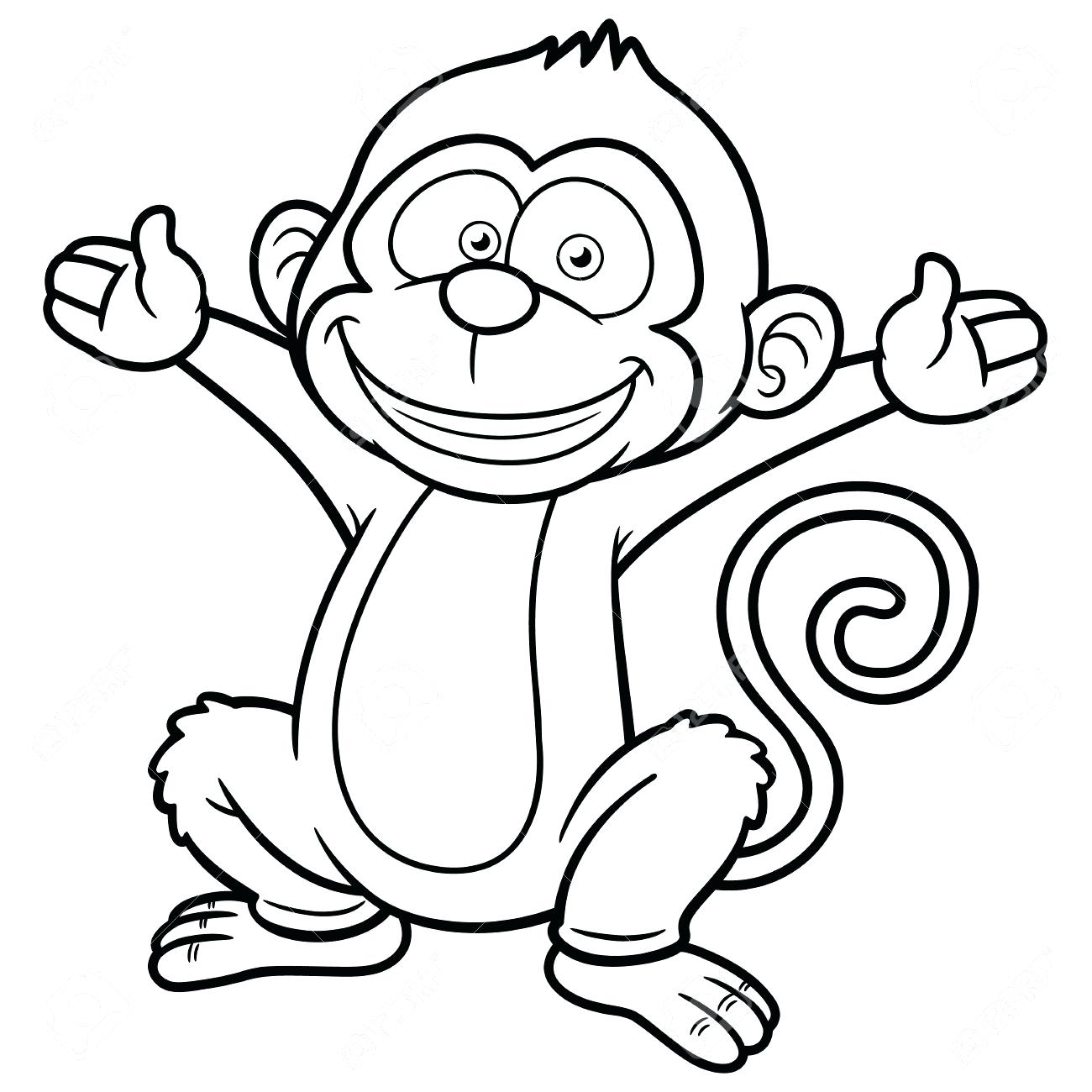 Monkey Line Drawing At Getdrawings
