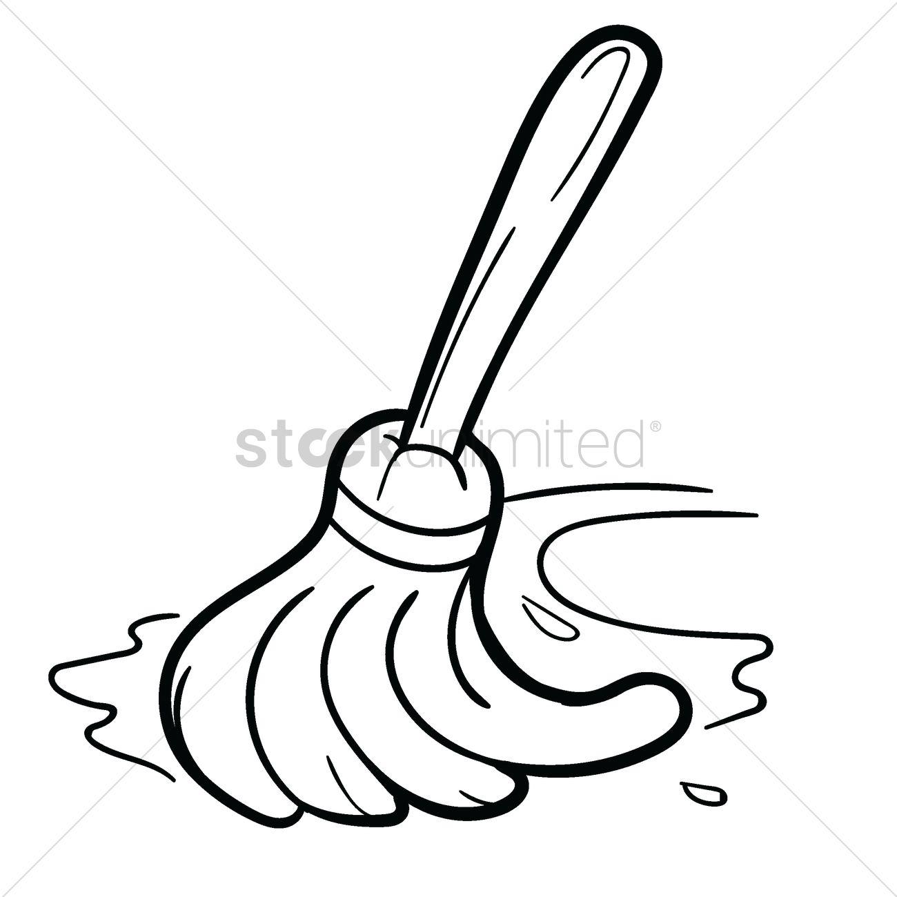Mop Drawing At Getdrawings
