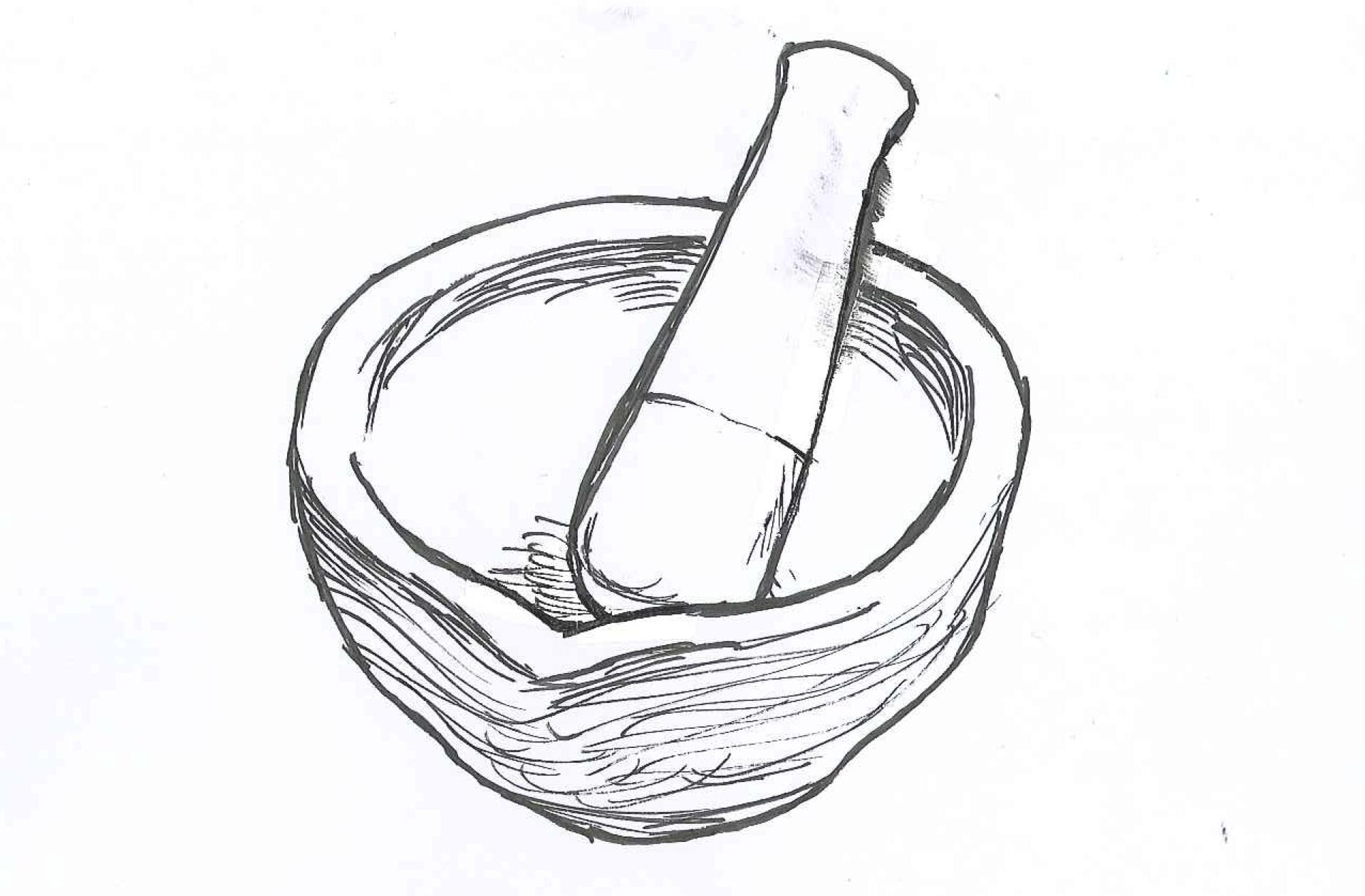 Mortar And Pestle Drawing At Getdrawings
