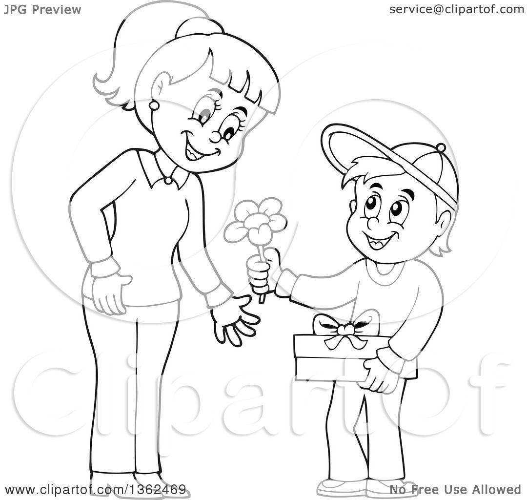 Mother Cartoon Drawing At Getdrawings