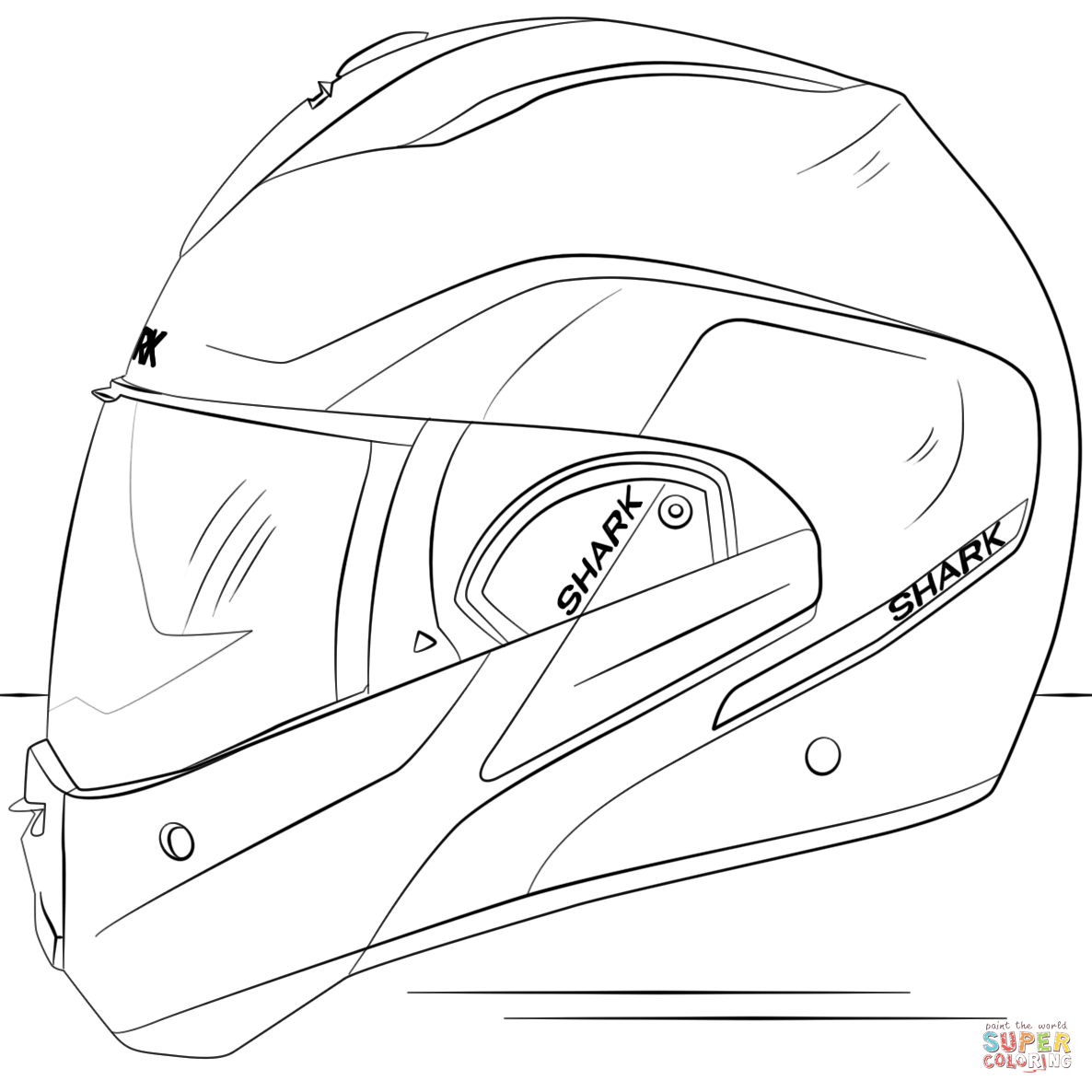 Motocross Helmet Drawing At Getdrawings