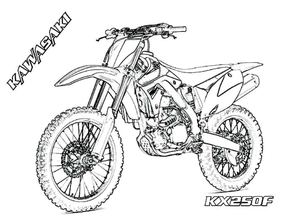 Dirt Bike Steps Easy Draw