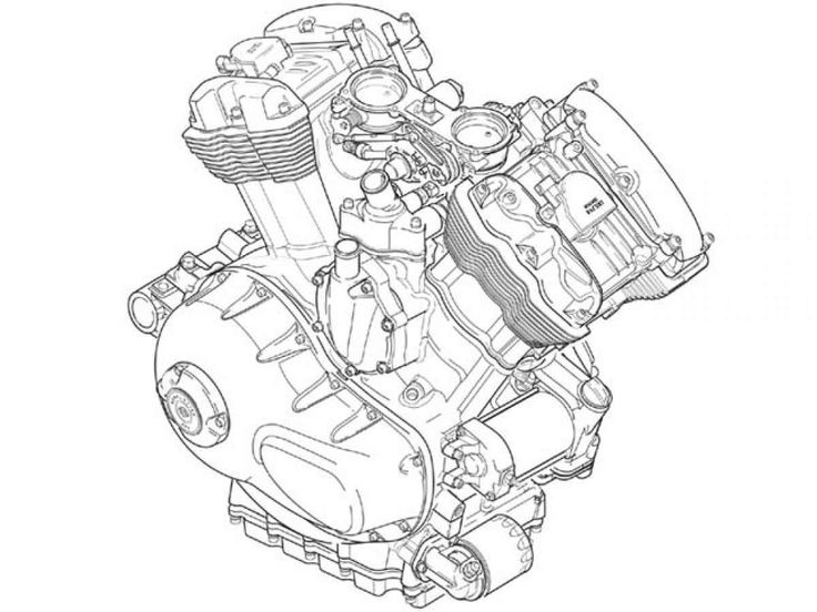 Drawing Motorcycle Engine Dimensions