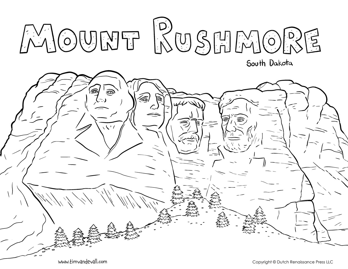 Mount Rushmore Drawing At Getdrawings