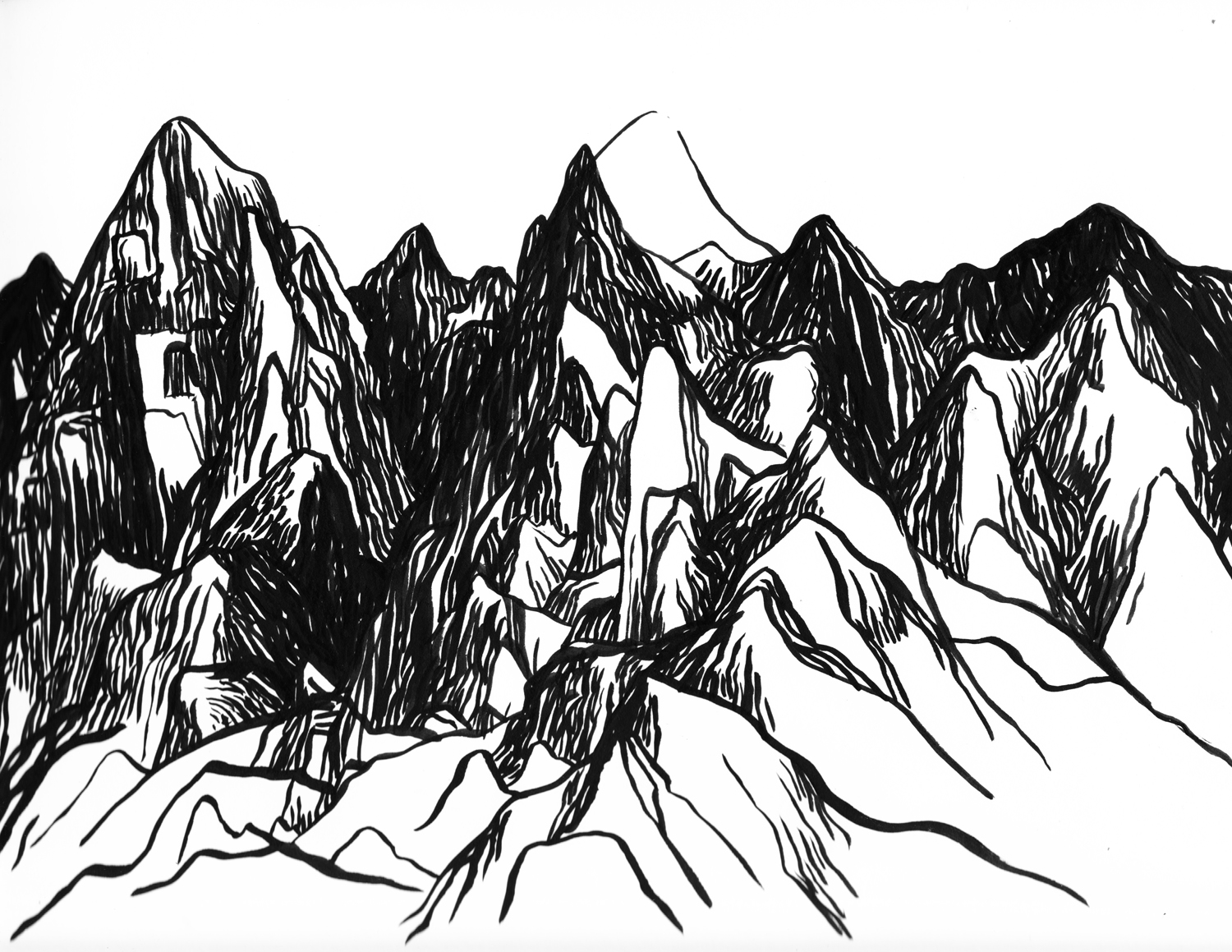 Mountain range line drawing at getdrawings free for personal mountain range line drawing 17 mountain range