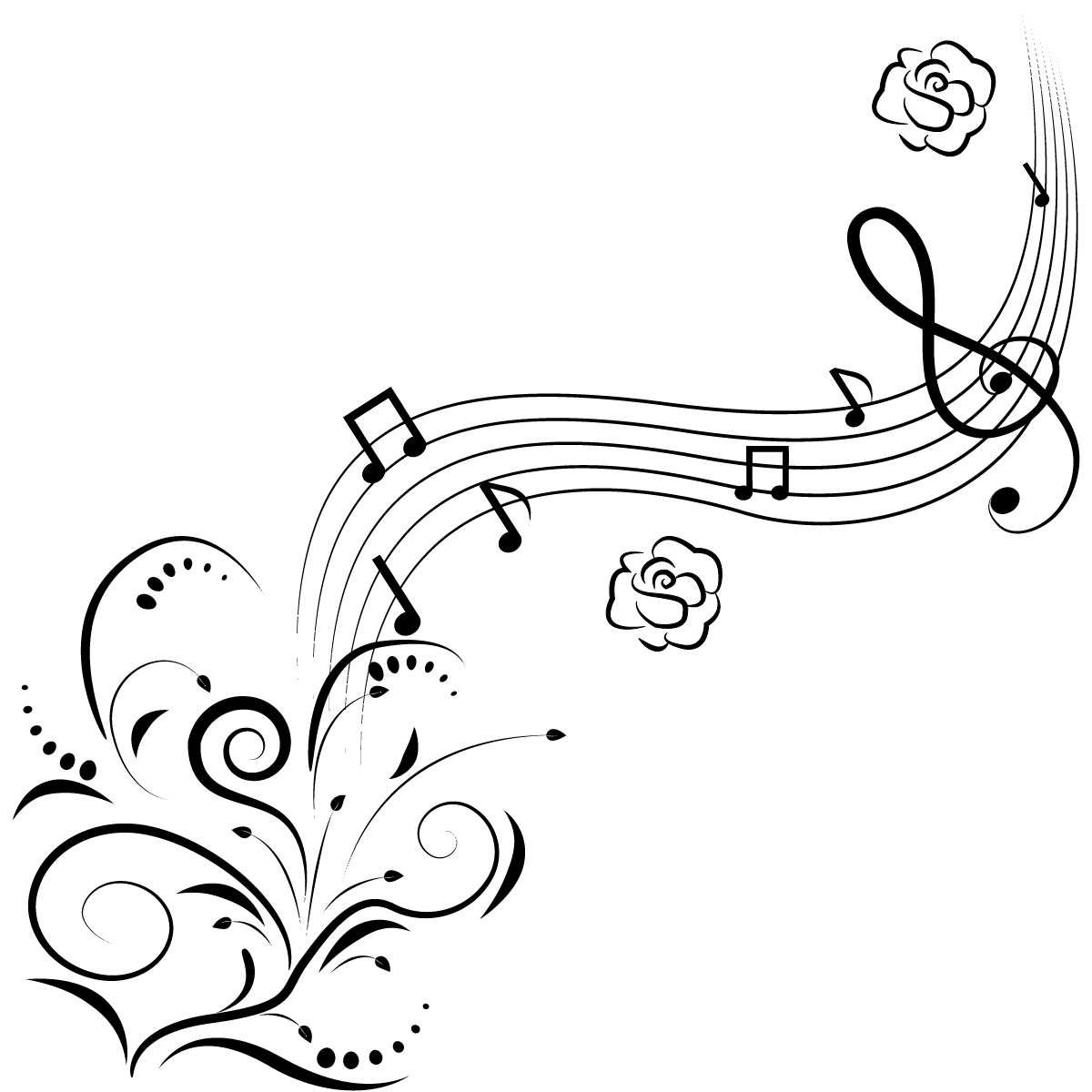 The Best Free Music Drawing Images Download From