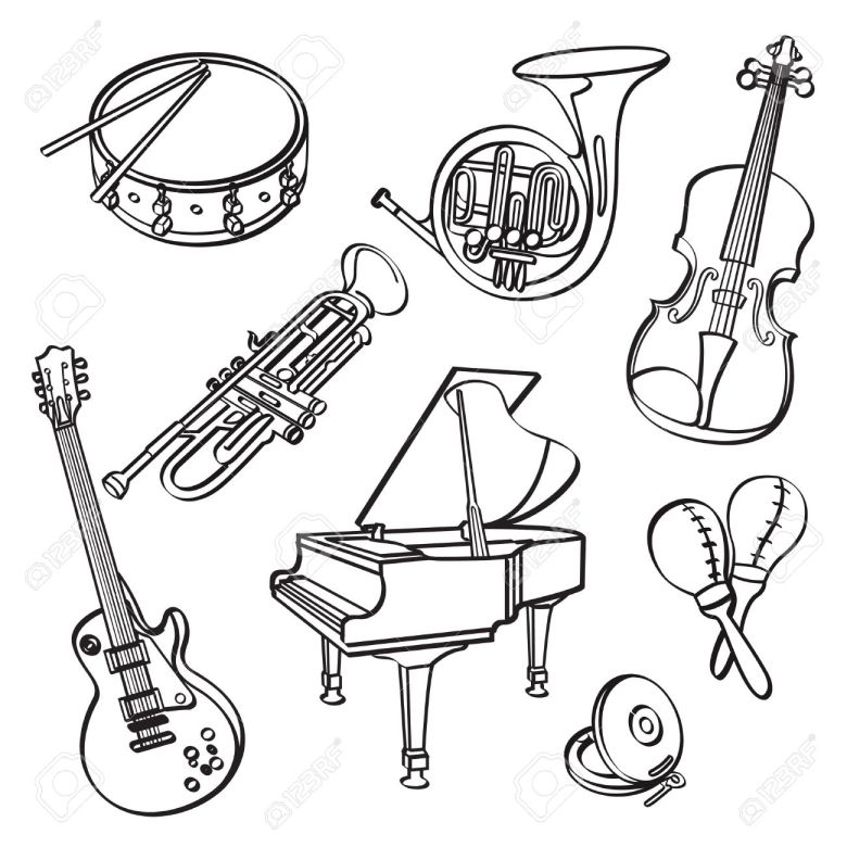musical instrument drawing at getdrawings | free for personal