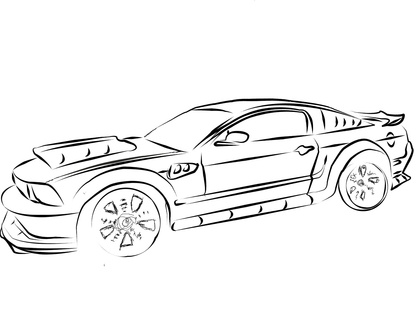 Mustang Gt Drawing At Getdrawings