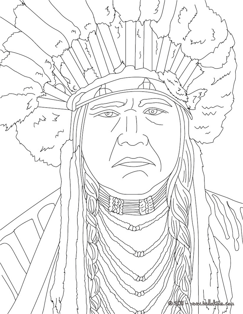 native american chief drawing at getdrawings  free download