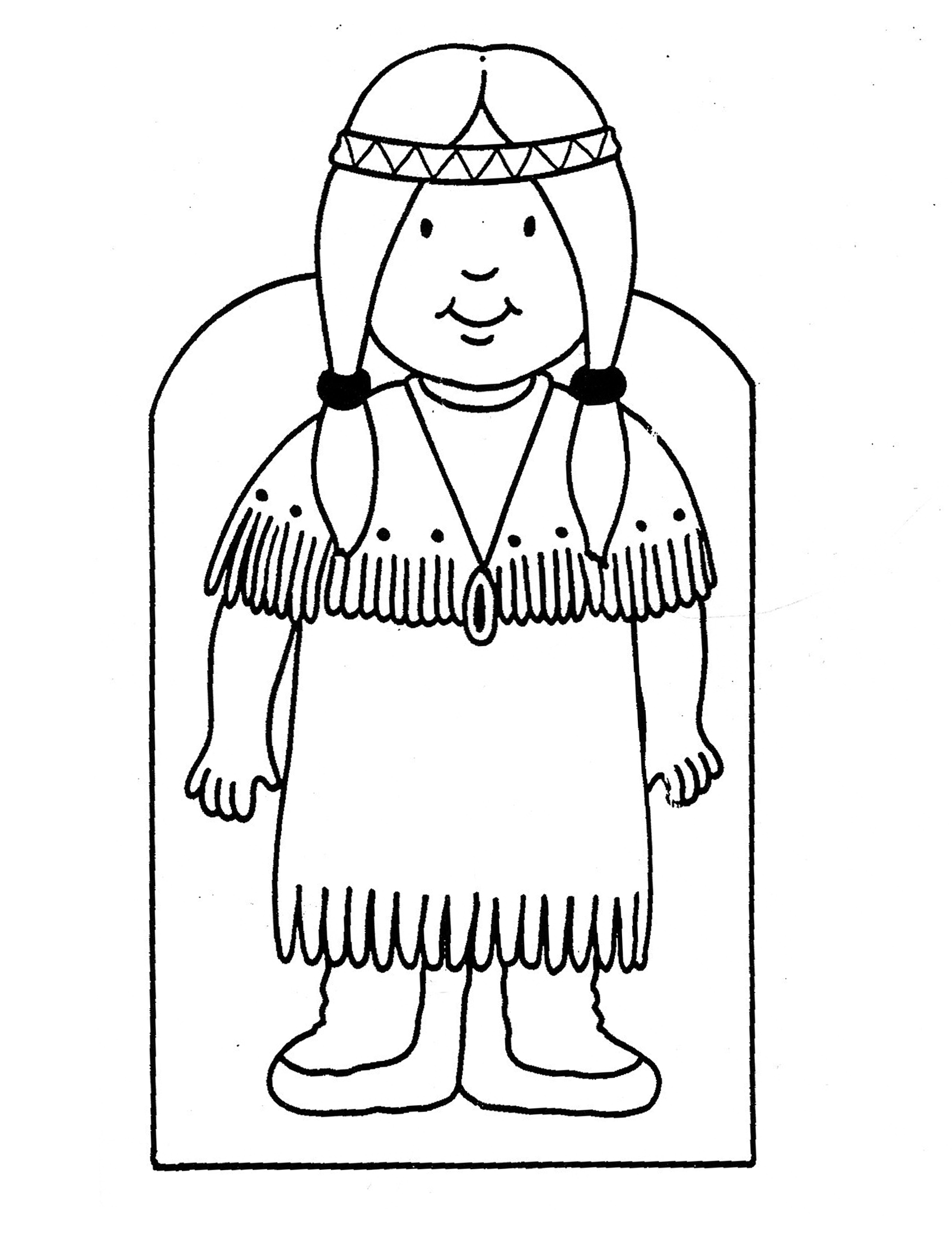 Native American Girl Drawing At Getdrawings