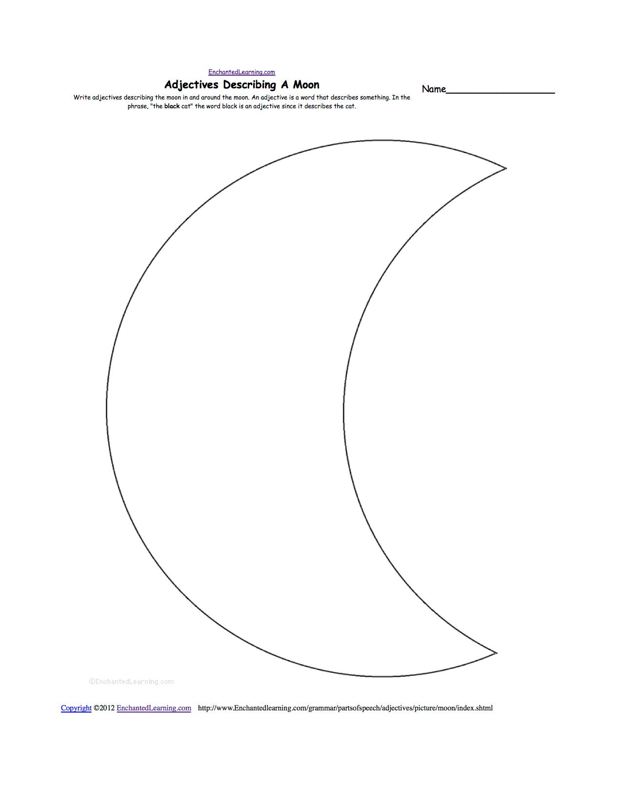 New Moon Drawing At Getdrawings