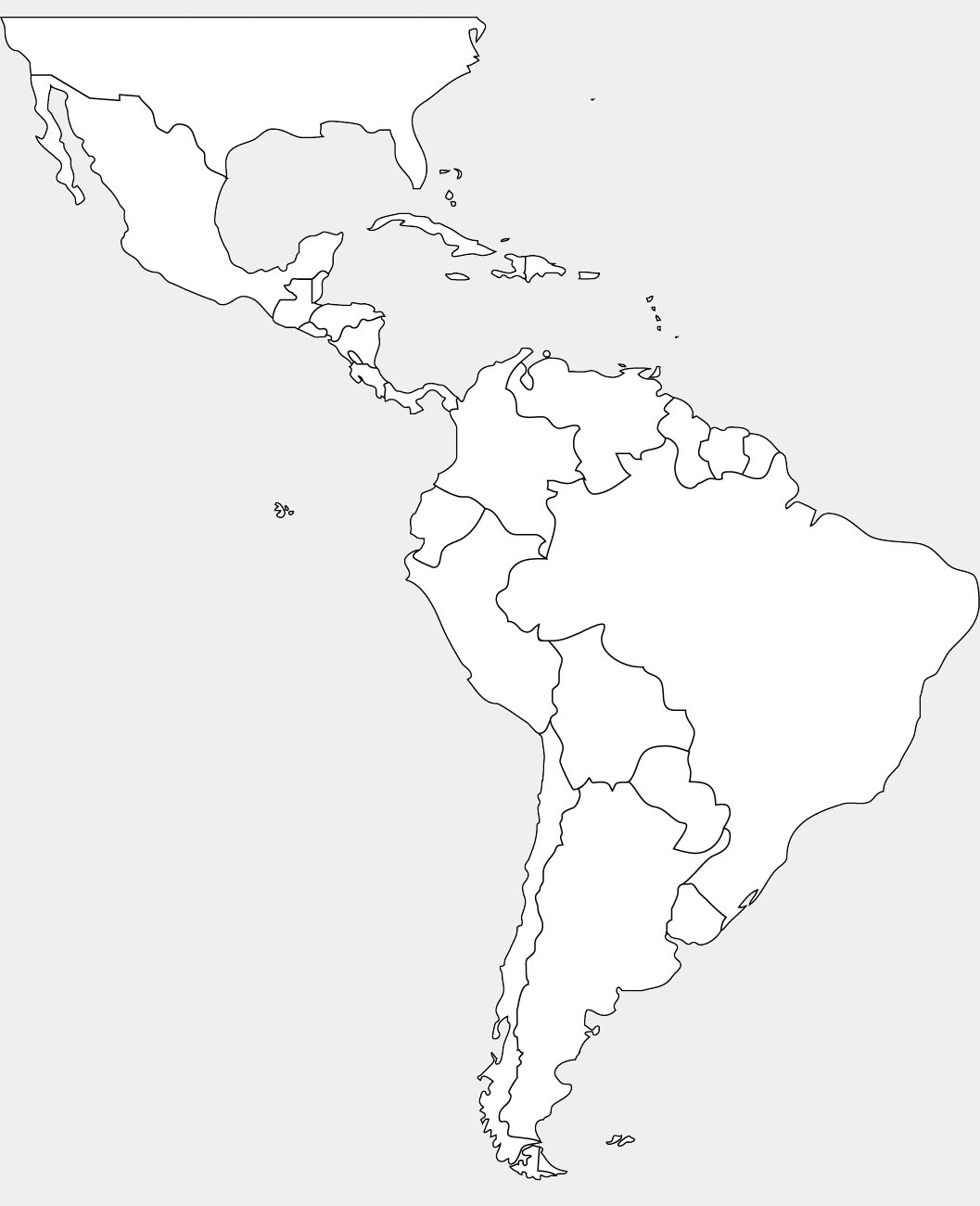 blank map of south and central america Blank Map Of Central America Countries لم يسبق له مثيل الصور blank map of south and central america