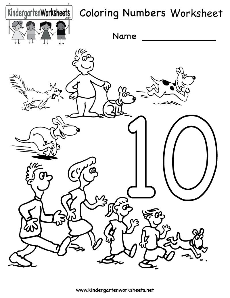 Numbers Worksheet Drawing At Getdrawings