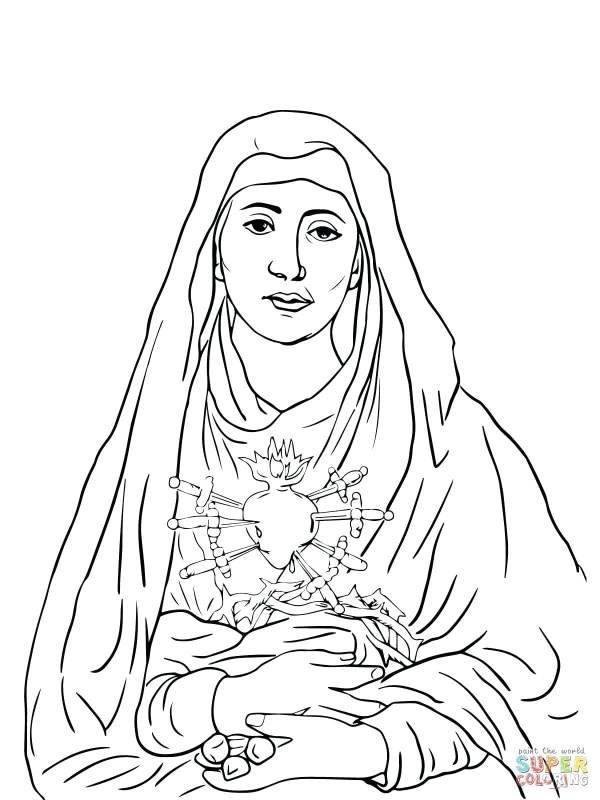 our lady of guadalupe coloring page # 77