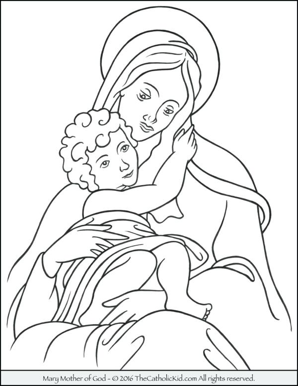 our lady of guadalupe coloring page # 48