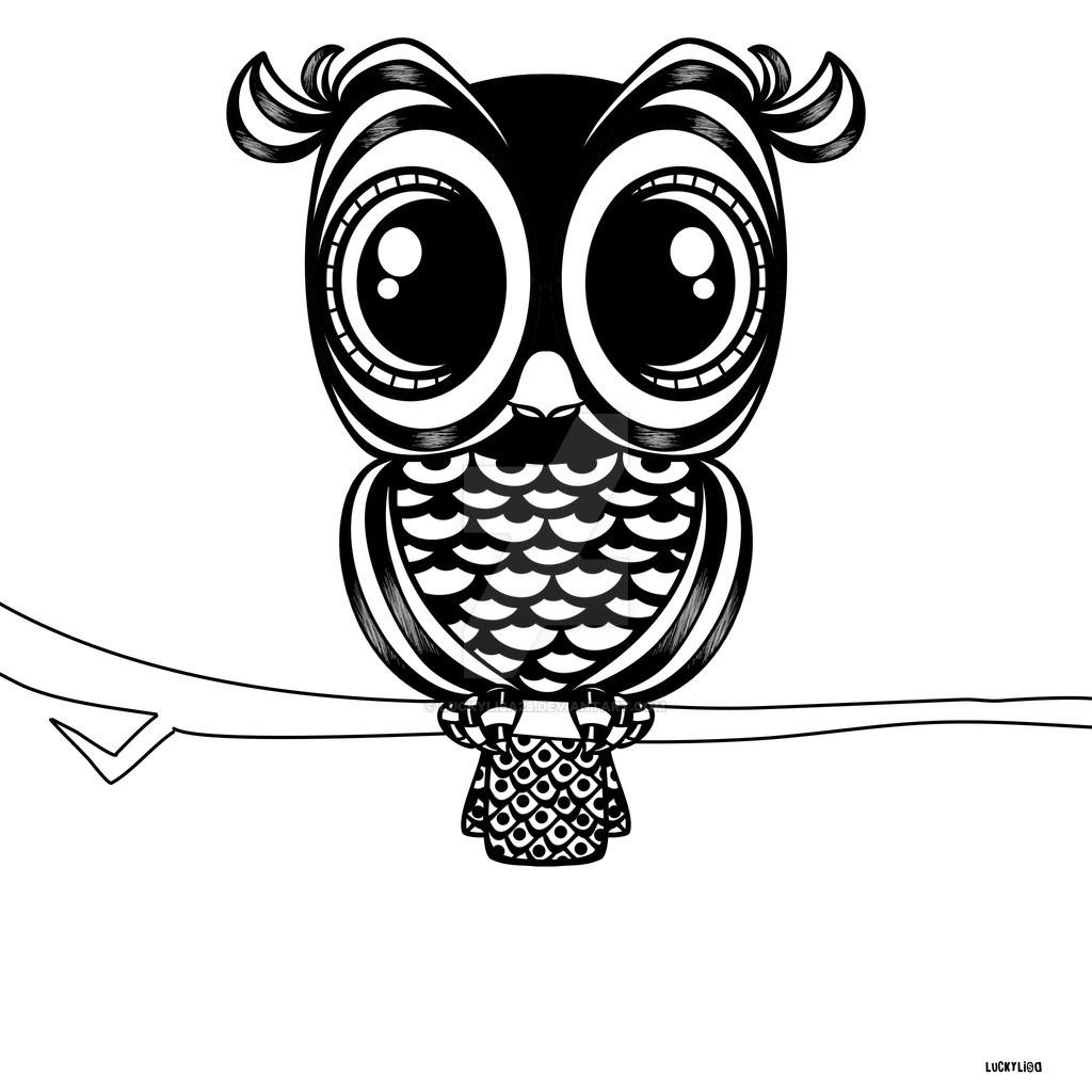Owl Line Drawing At Getdrawings