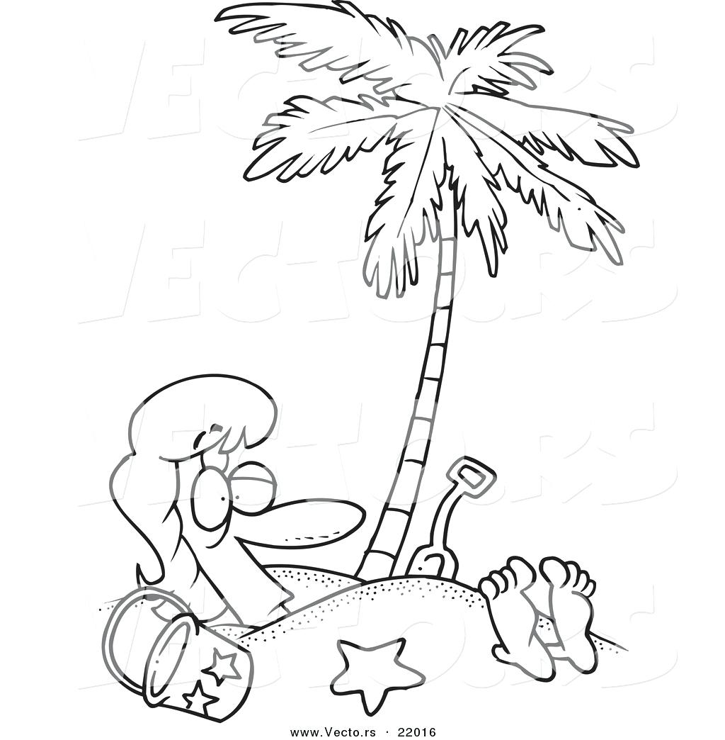 Palm Tree Drawing Outline At Paintingvalley