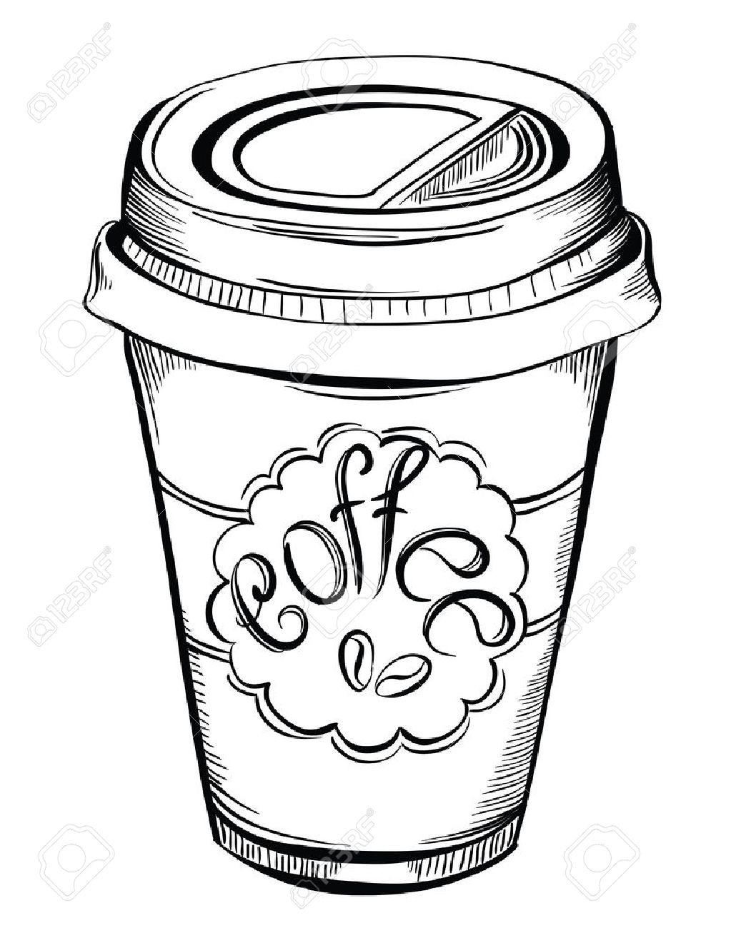 Paper Coffee Cup Drawing At Getdrawings
