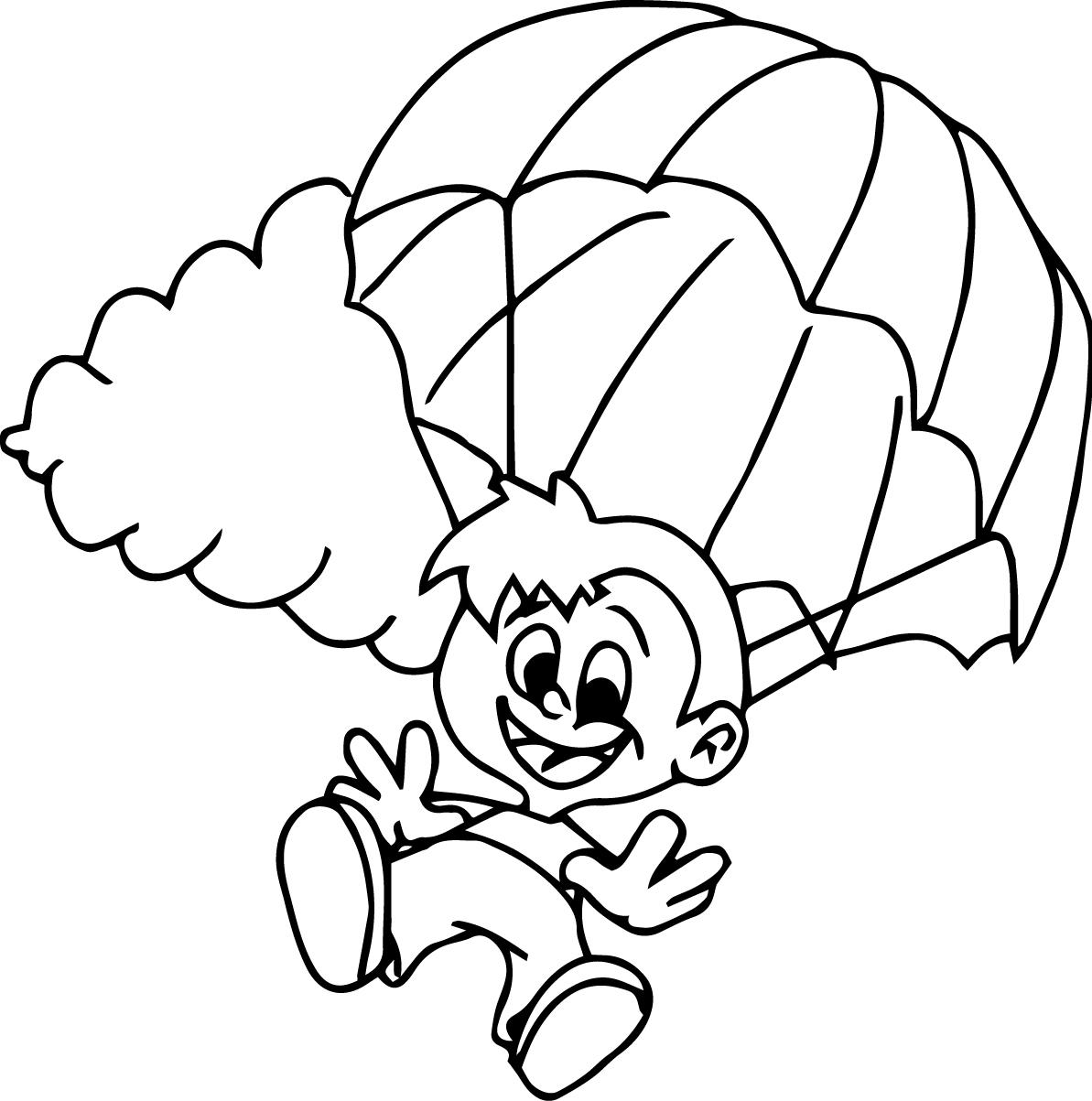 Parachute Drawing At Getdrawings