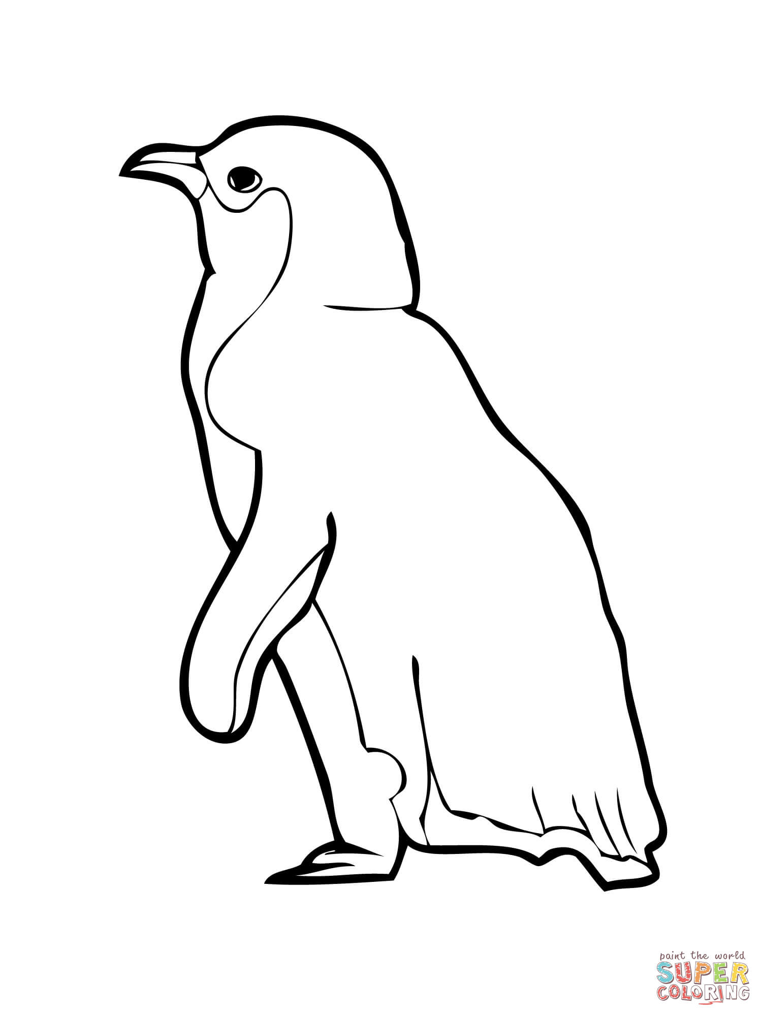 Penguin Outline Drawing At Getdrawings