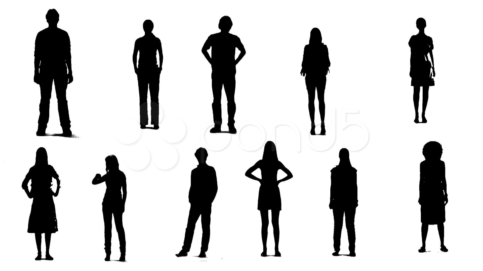 People Silhouette At Getdrawings