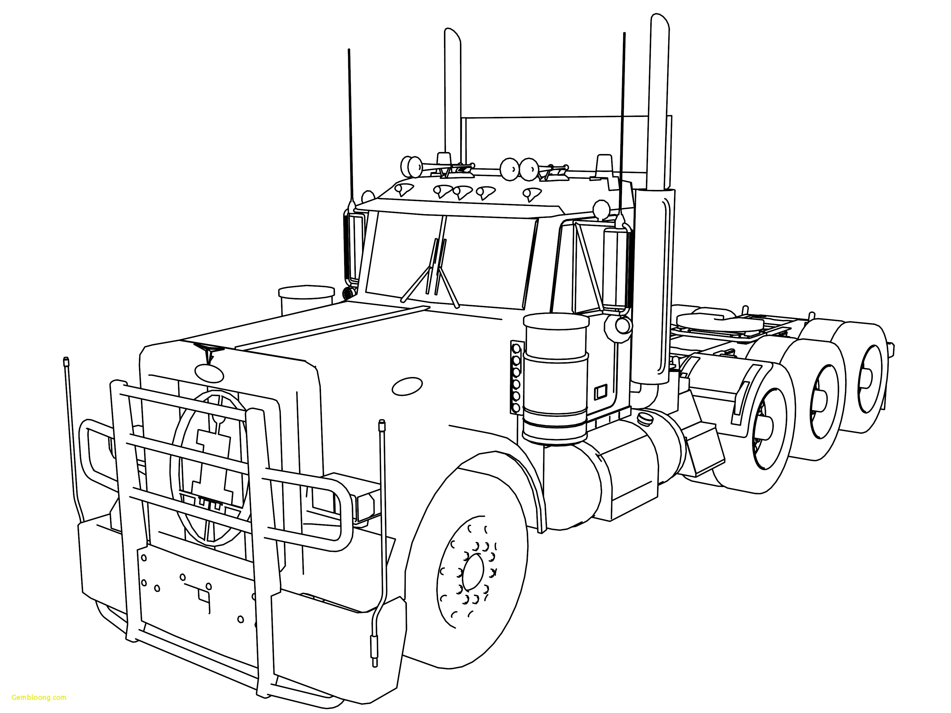 Peterbilt Drawing At Getdrawings