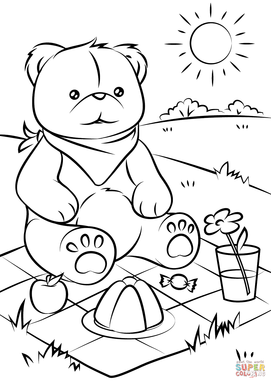 Picnic Scene Drawing At Getdrawings