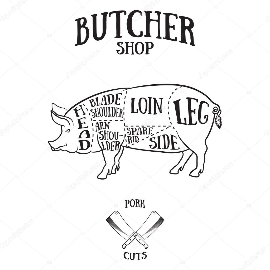 Pig Butcher Drawing At Getdrawings