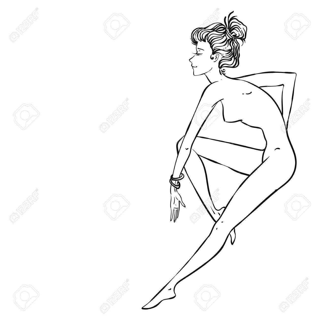 Pin Up Girl Drawing At Getdrawings