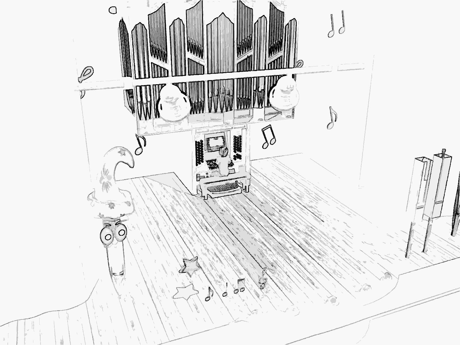 Pipe Organ Drawing At Getdrawings