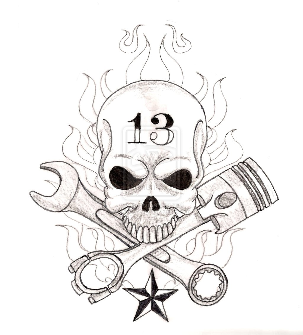 Piston Tattoo Drawing At Getdrawings
