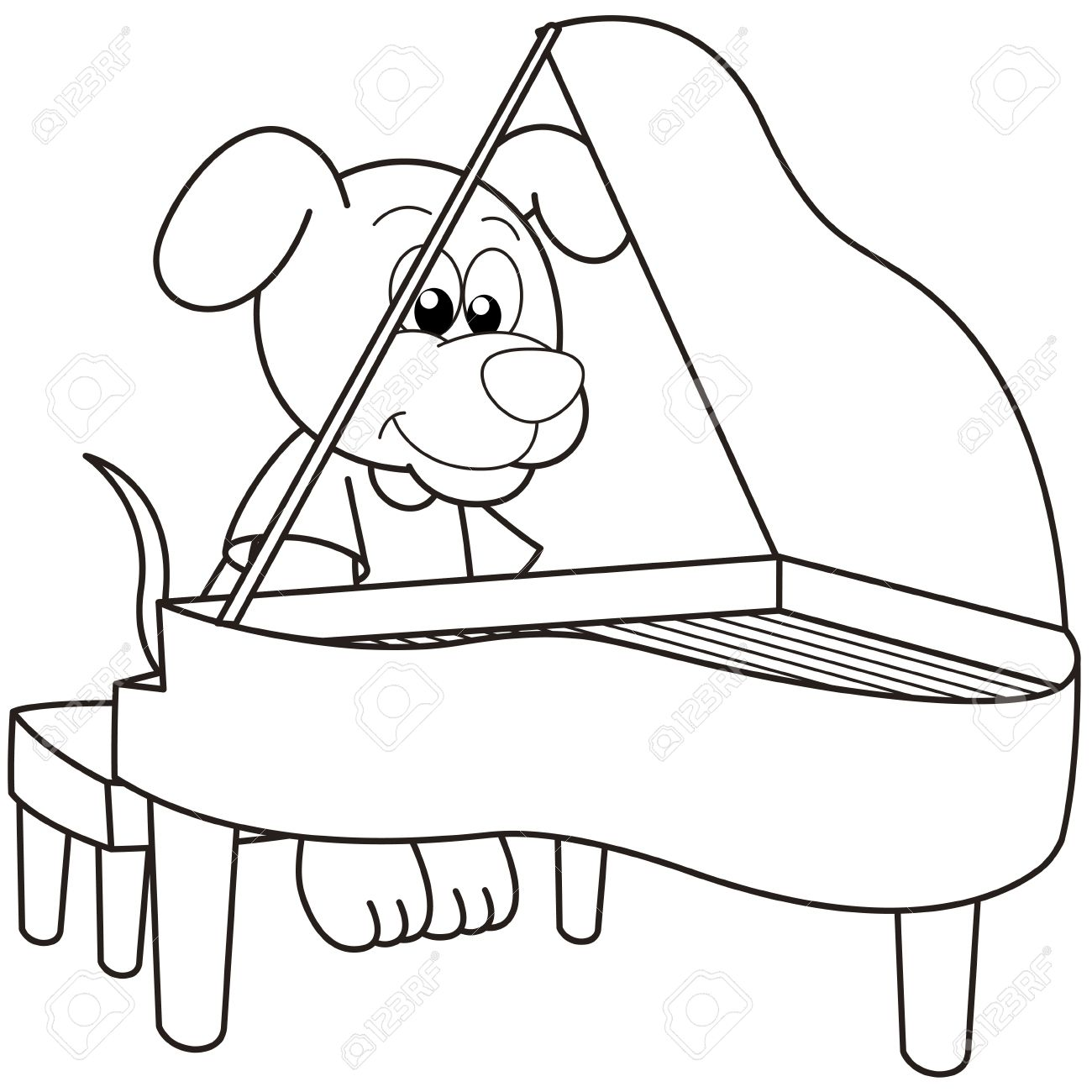 Playing Piano Drawing At Getdrawings