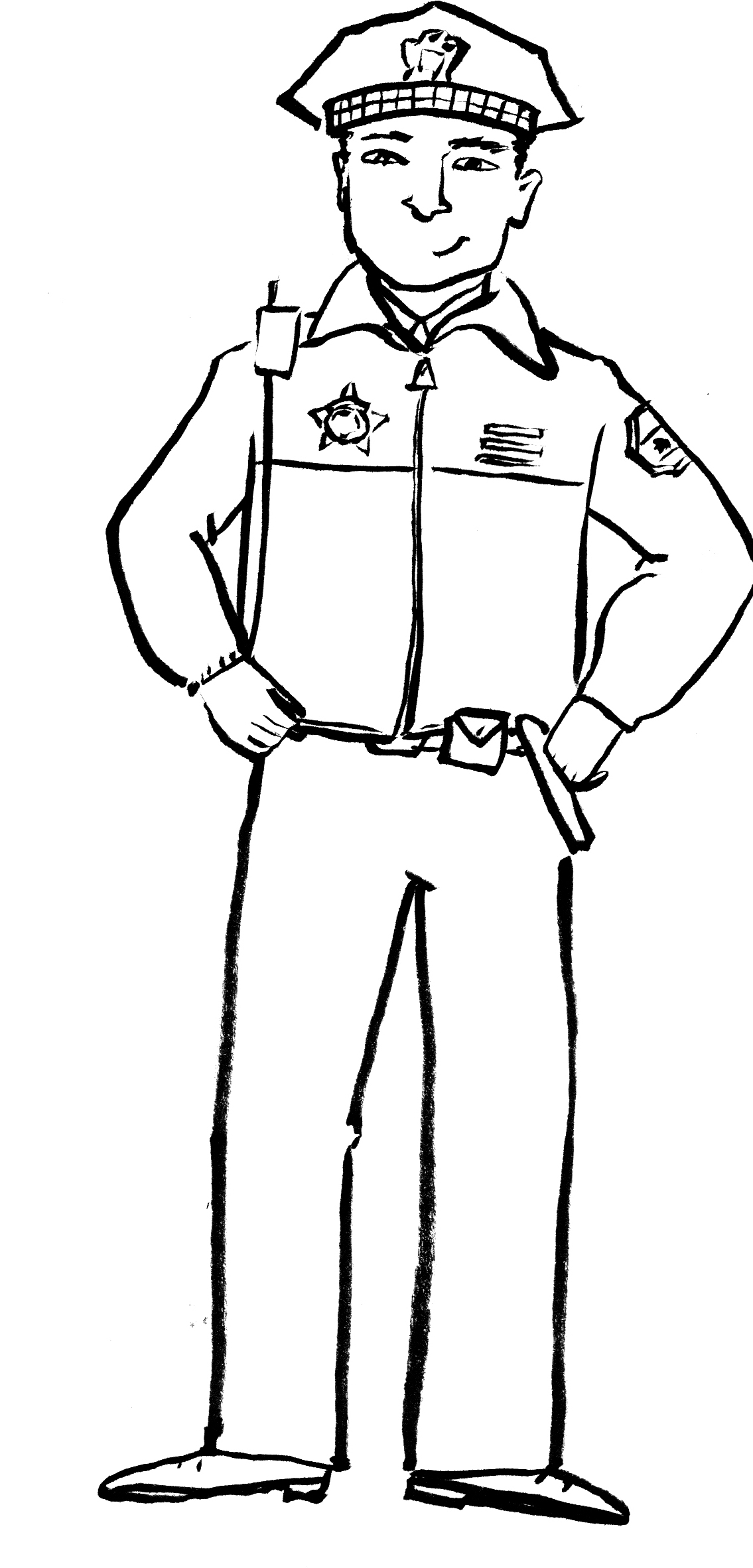 Police Hat Drawing At Getdrawings