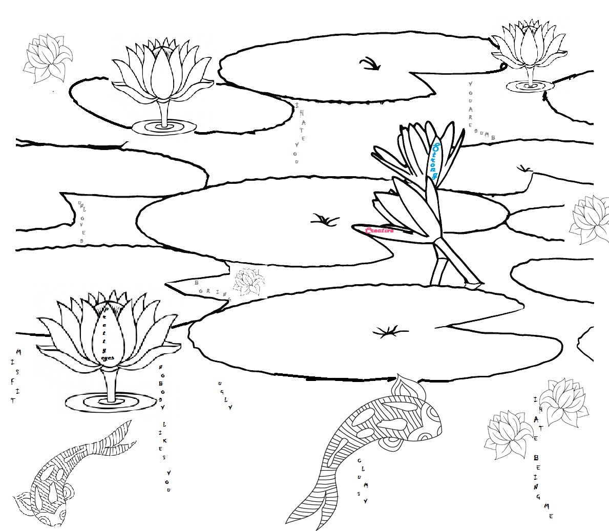 Pond Drawing At Getdrawings