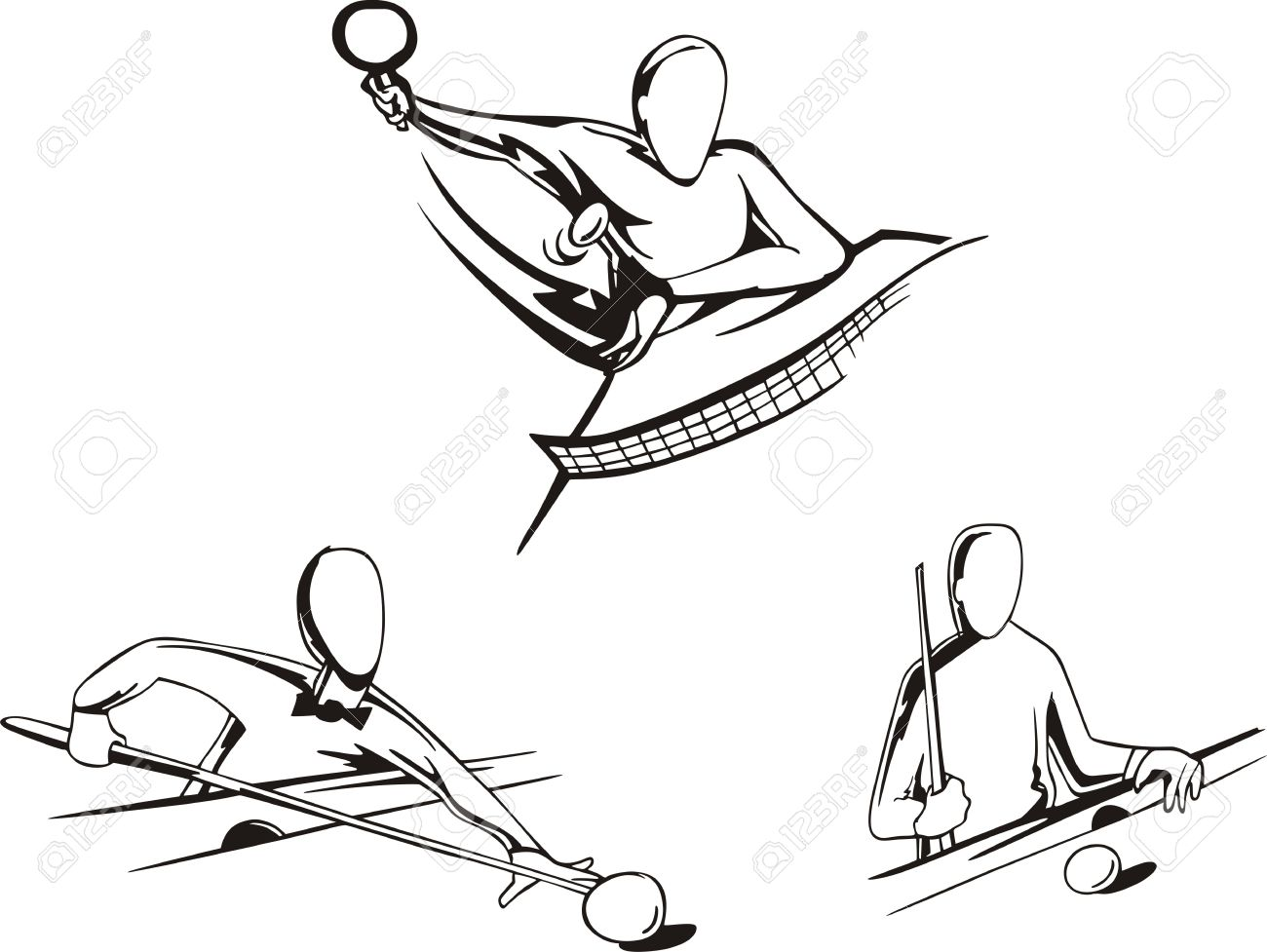 Pool Table Drawing At Getdrawings