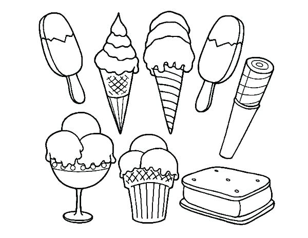 Coloring Page Ice Cream Bar