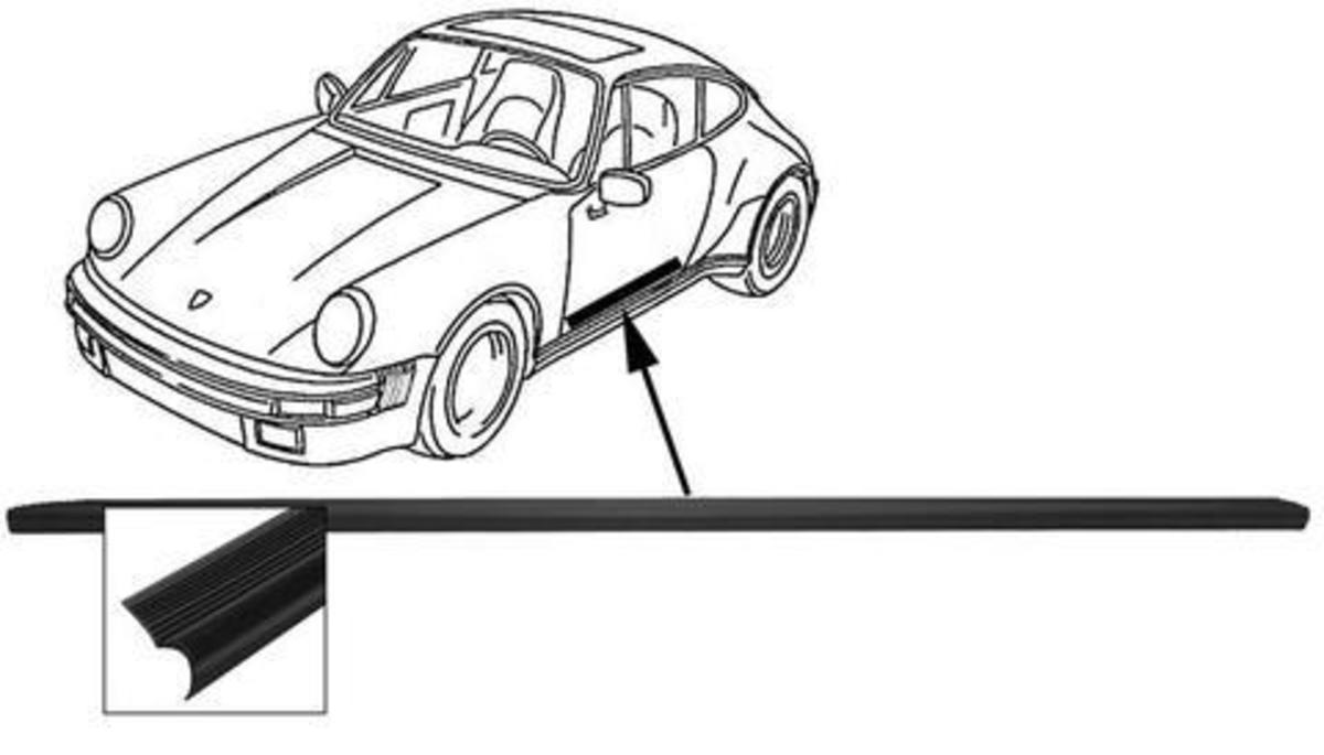 1200x685 rubber pad 91155161900 frame body interior panelling porsche 356