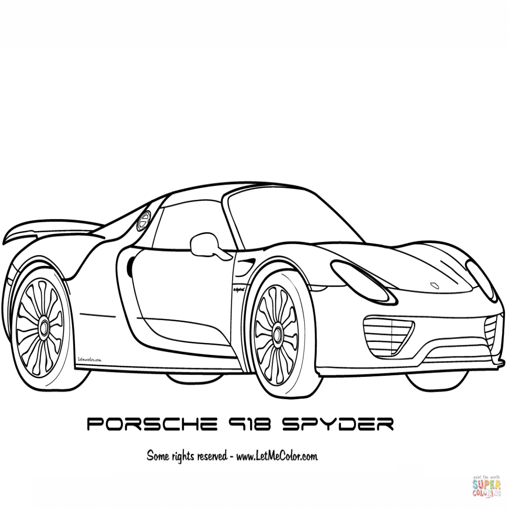Porsche 918 Spyder Drawing At Getdrawings