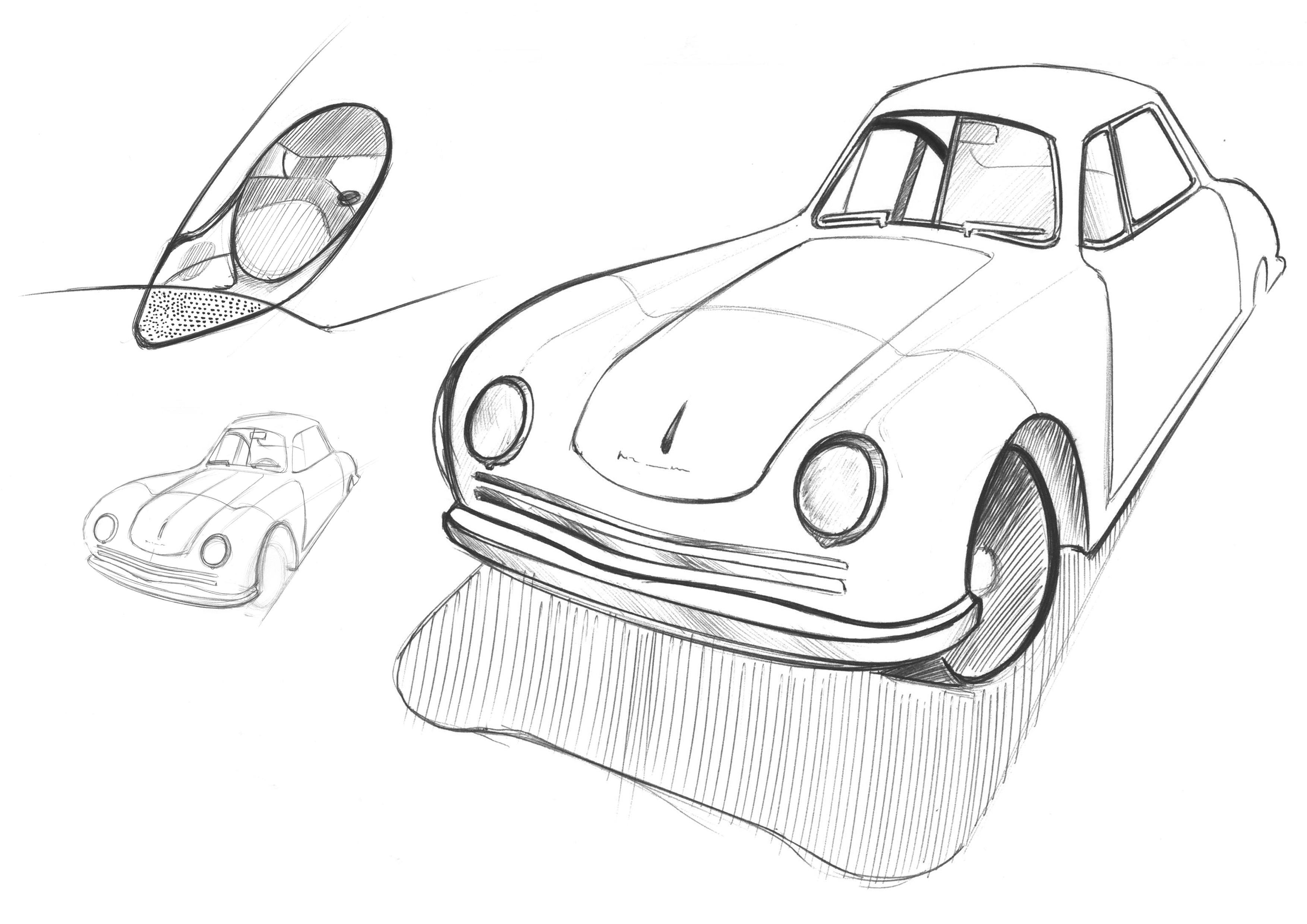 3507x2480 porsche study in ball point pen my doodles pinterest