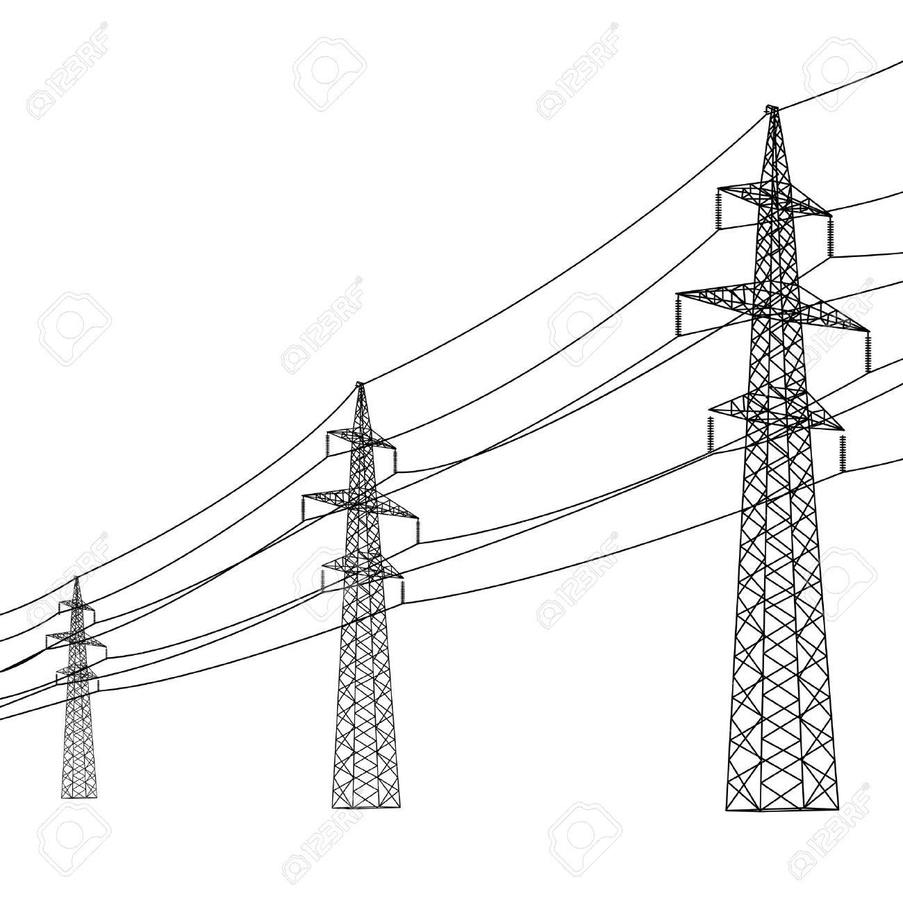 Power Line Drawing At Getdrawings