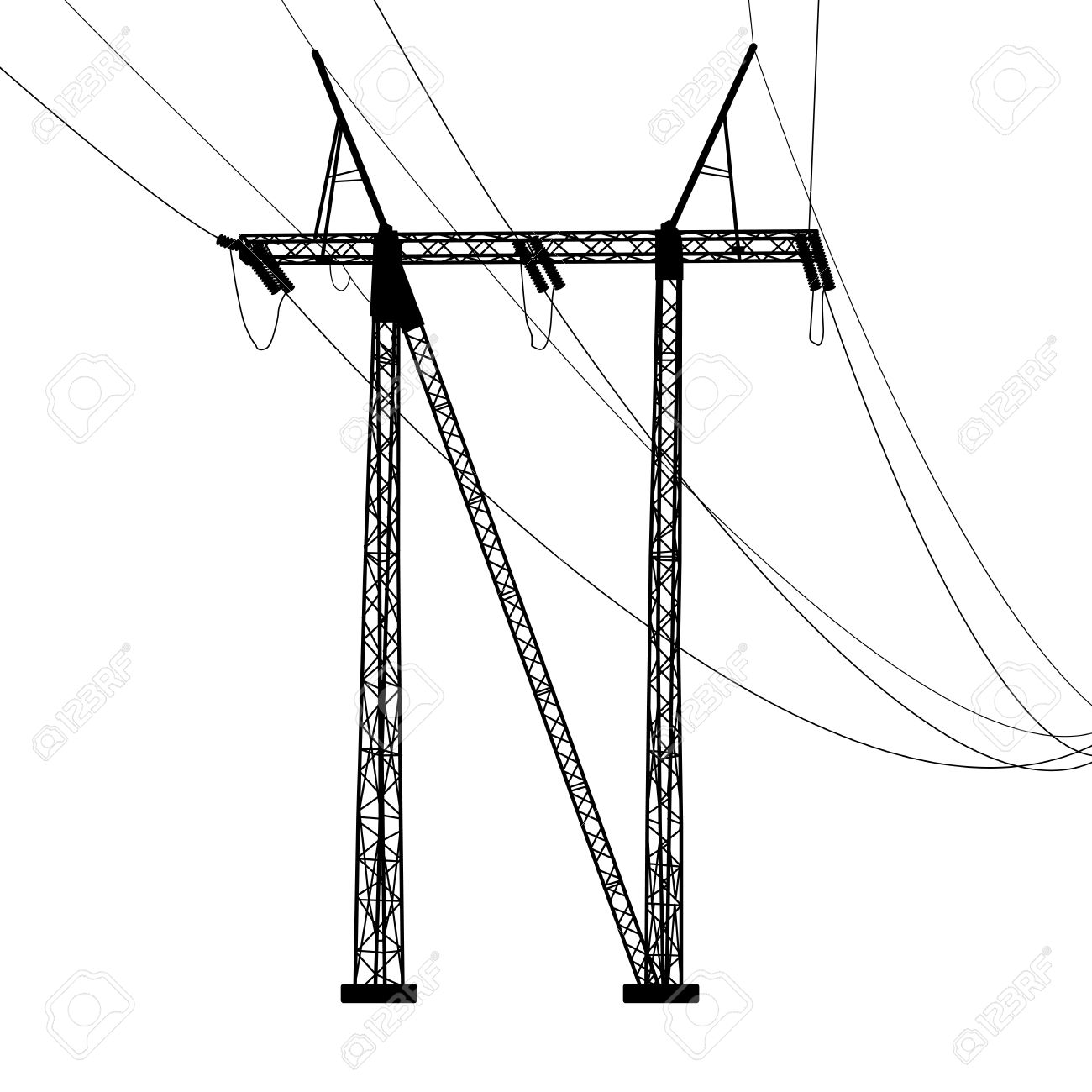 Power Lines Drawing At Getdrawings