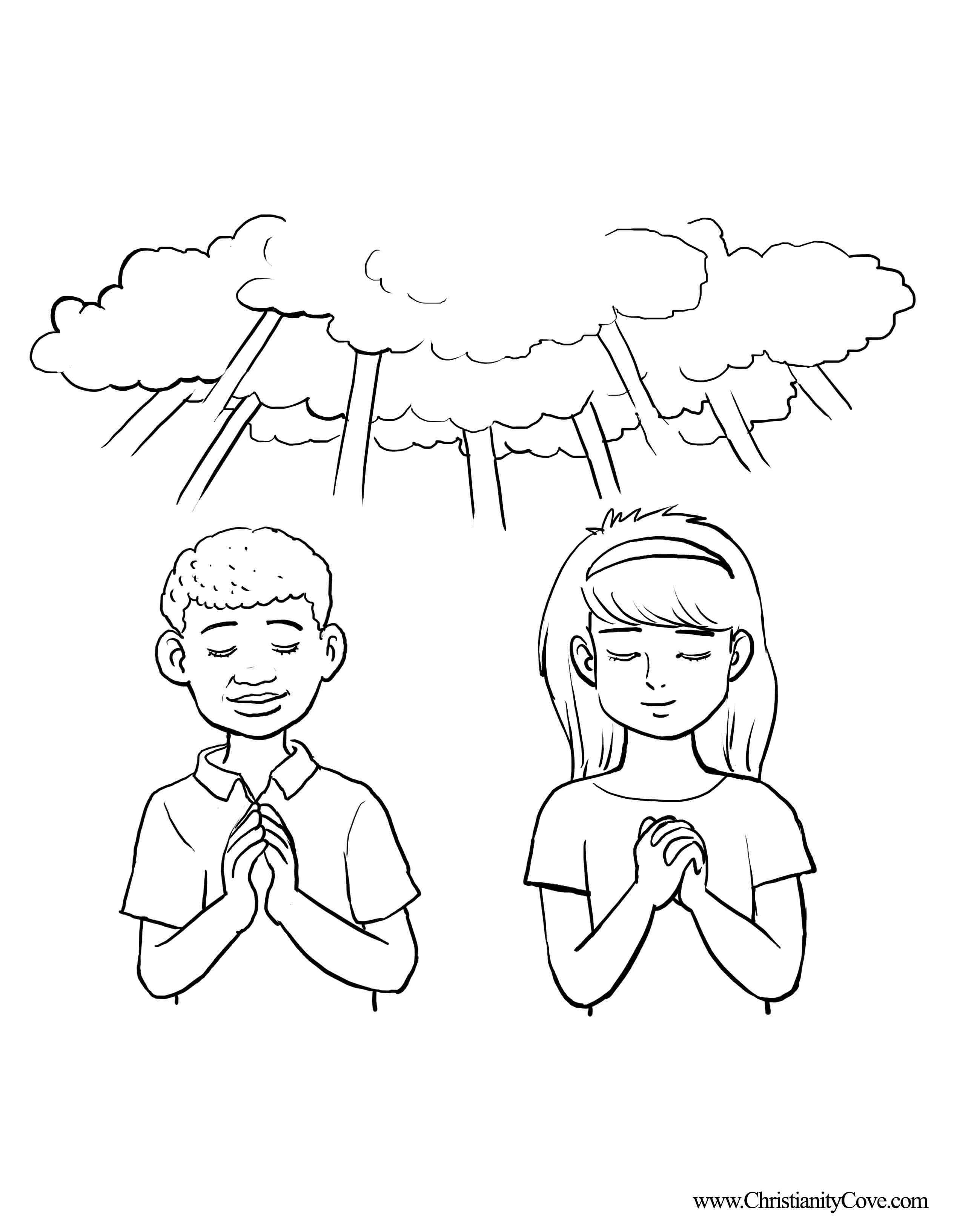 Praying Child Drawing At Getdrawings