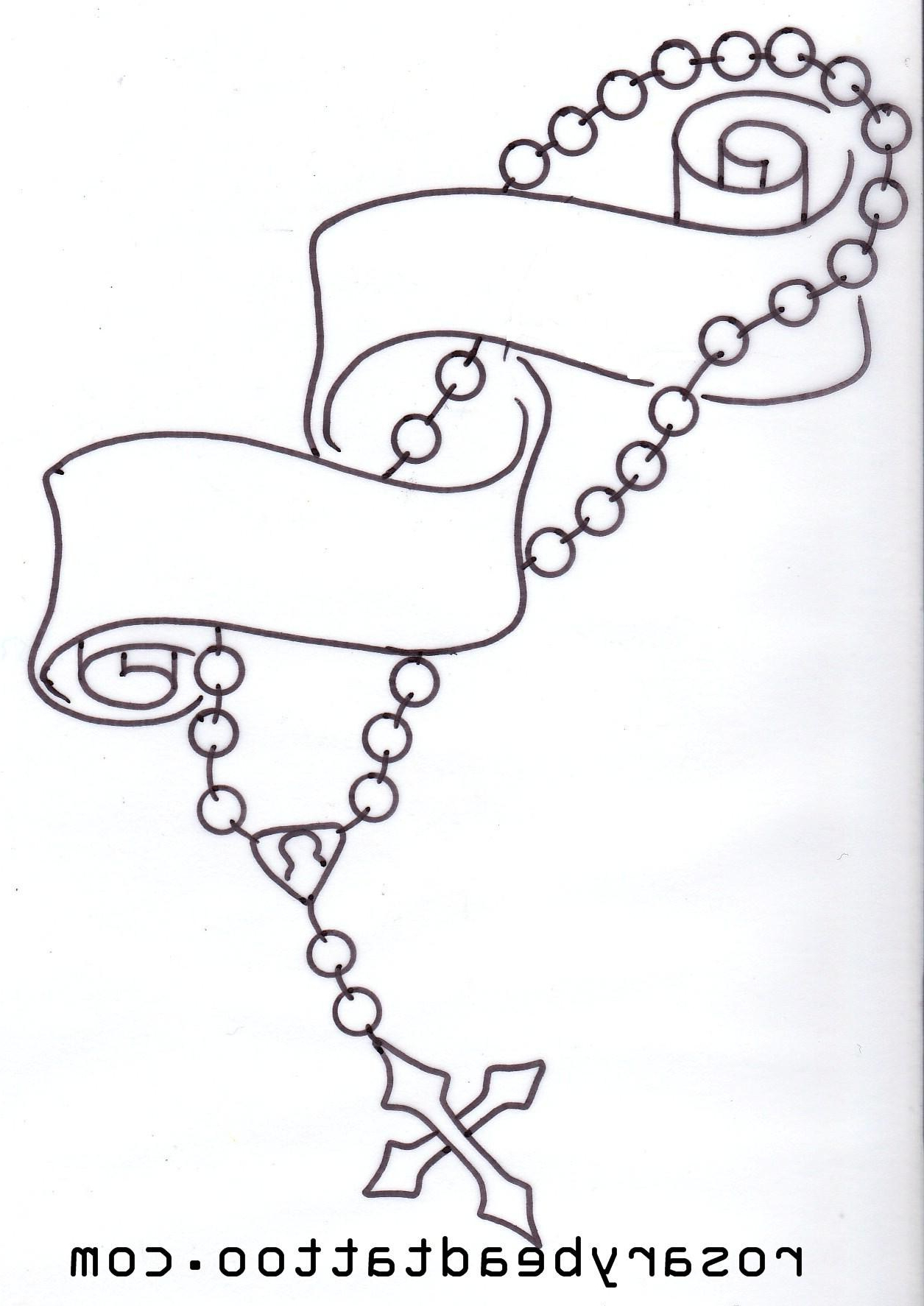 Praying Hands With Rosary Drawing At Getdrawings