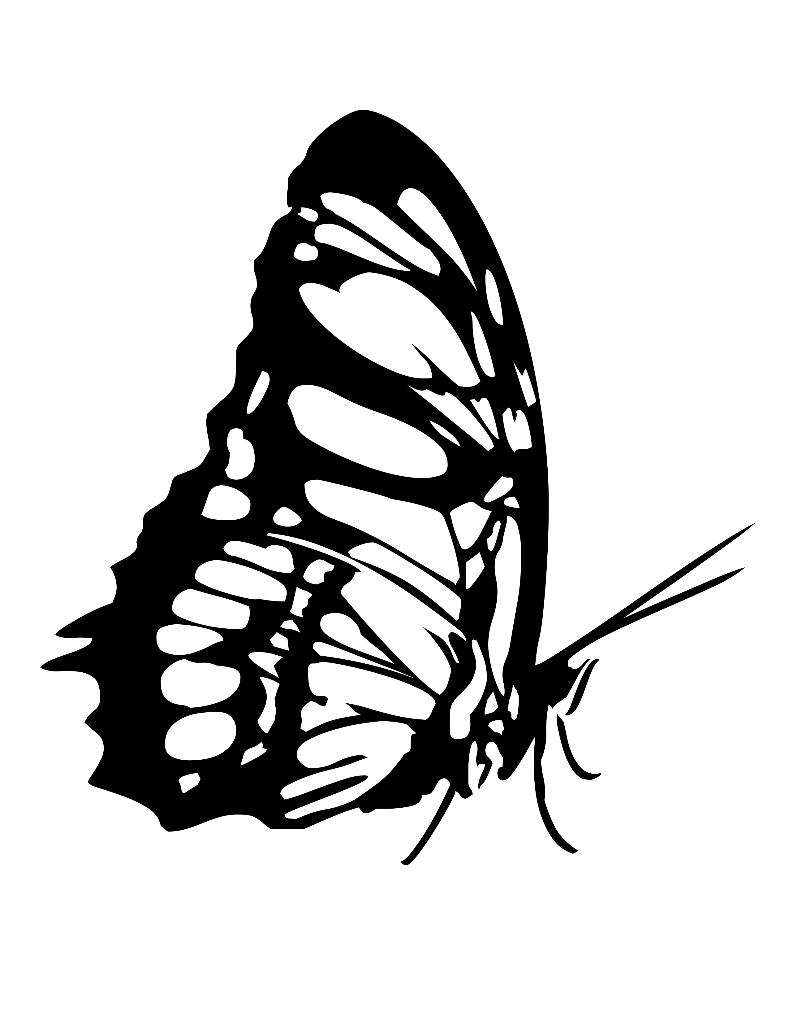 Pretty Butterfly Drawing At Getdrawings