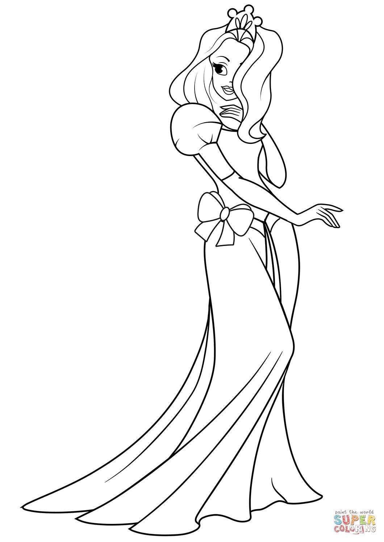 Pretty Princess Drawing At Getdrawings