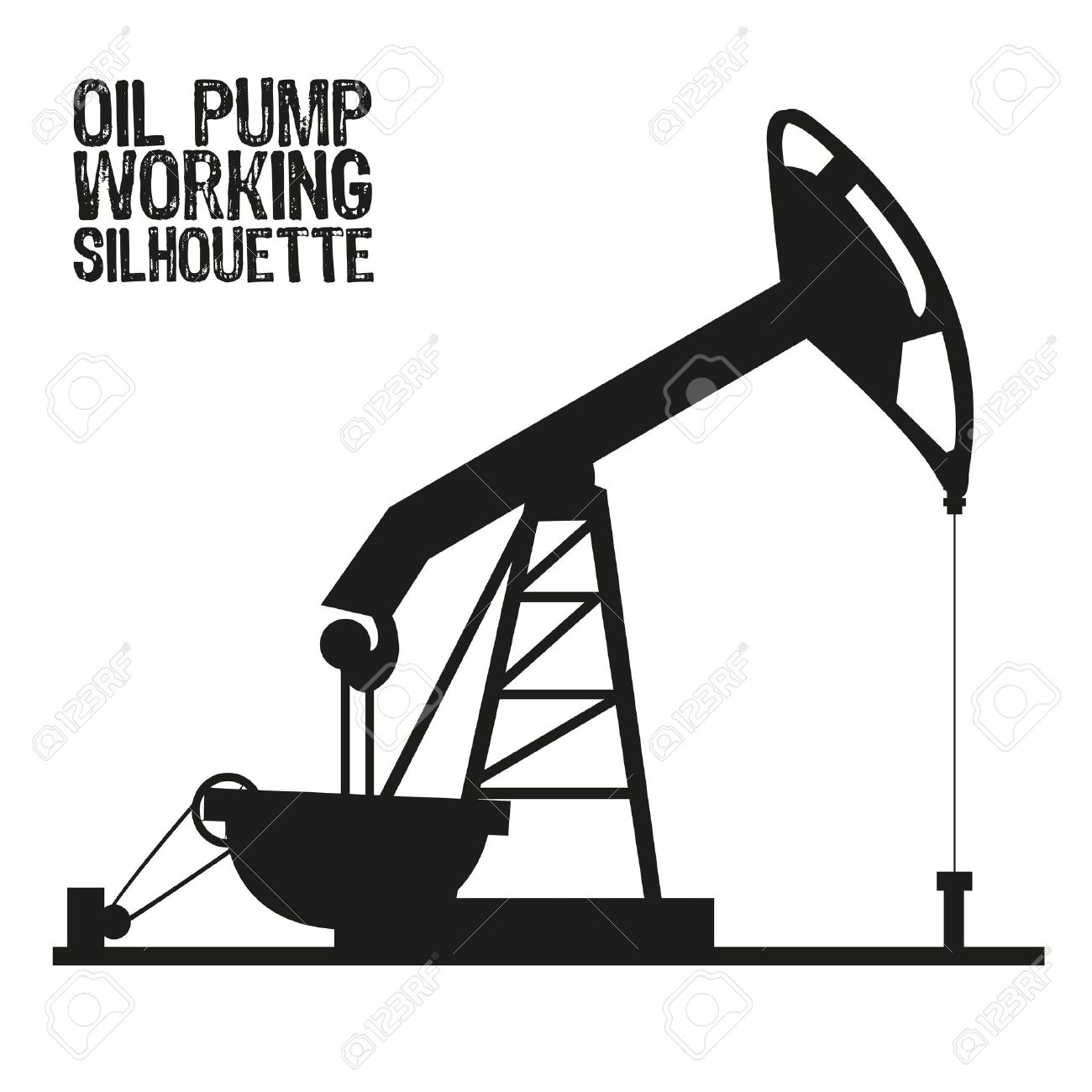 Pump Jack Drawing At Getdrawings