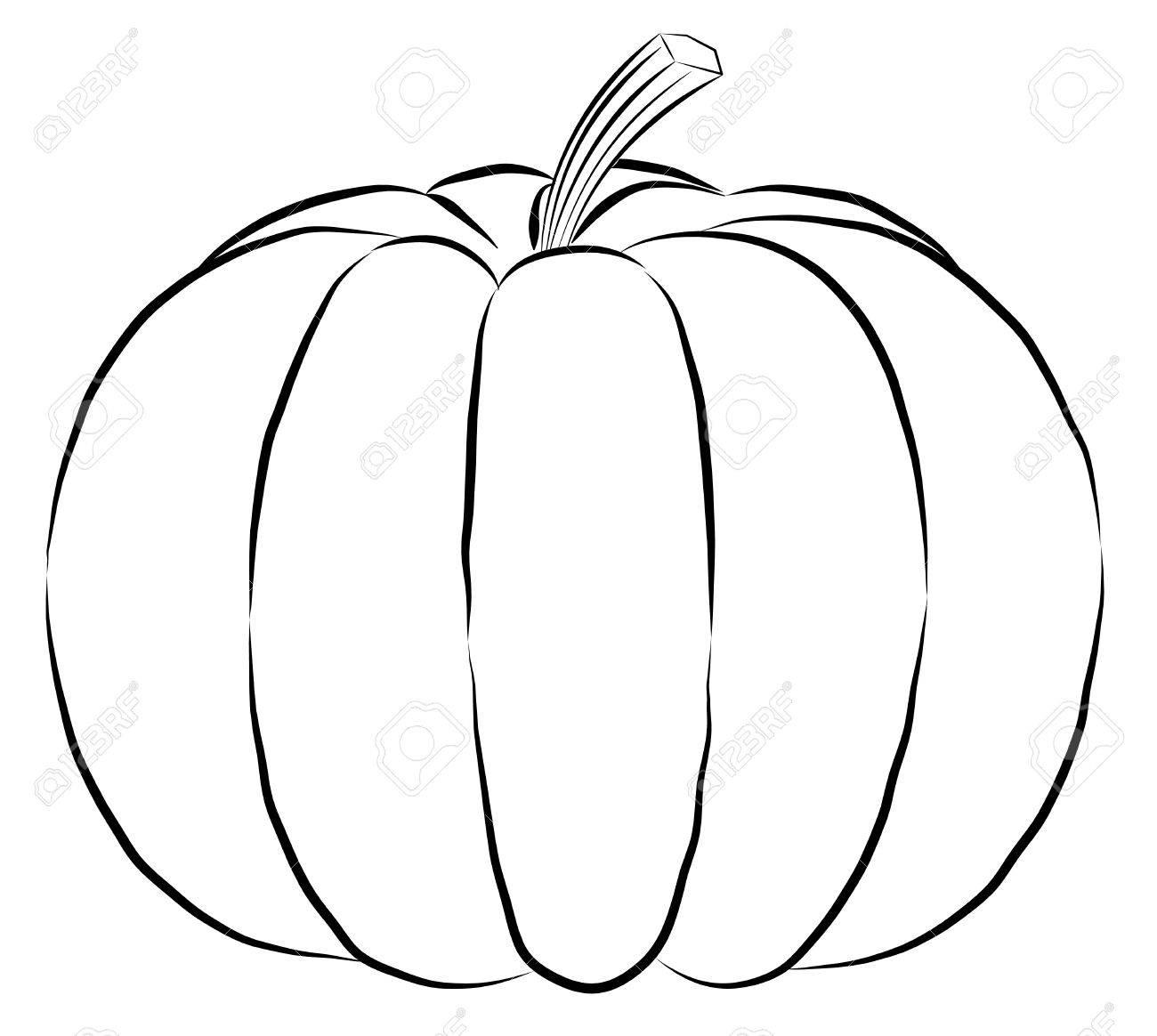 Clipart Of Pumpkin