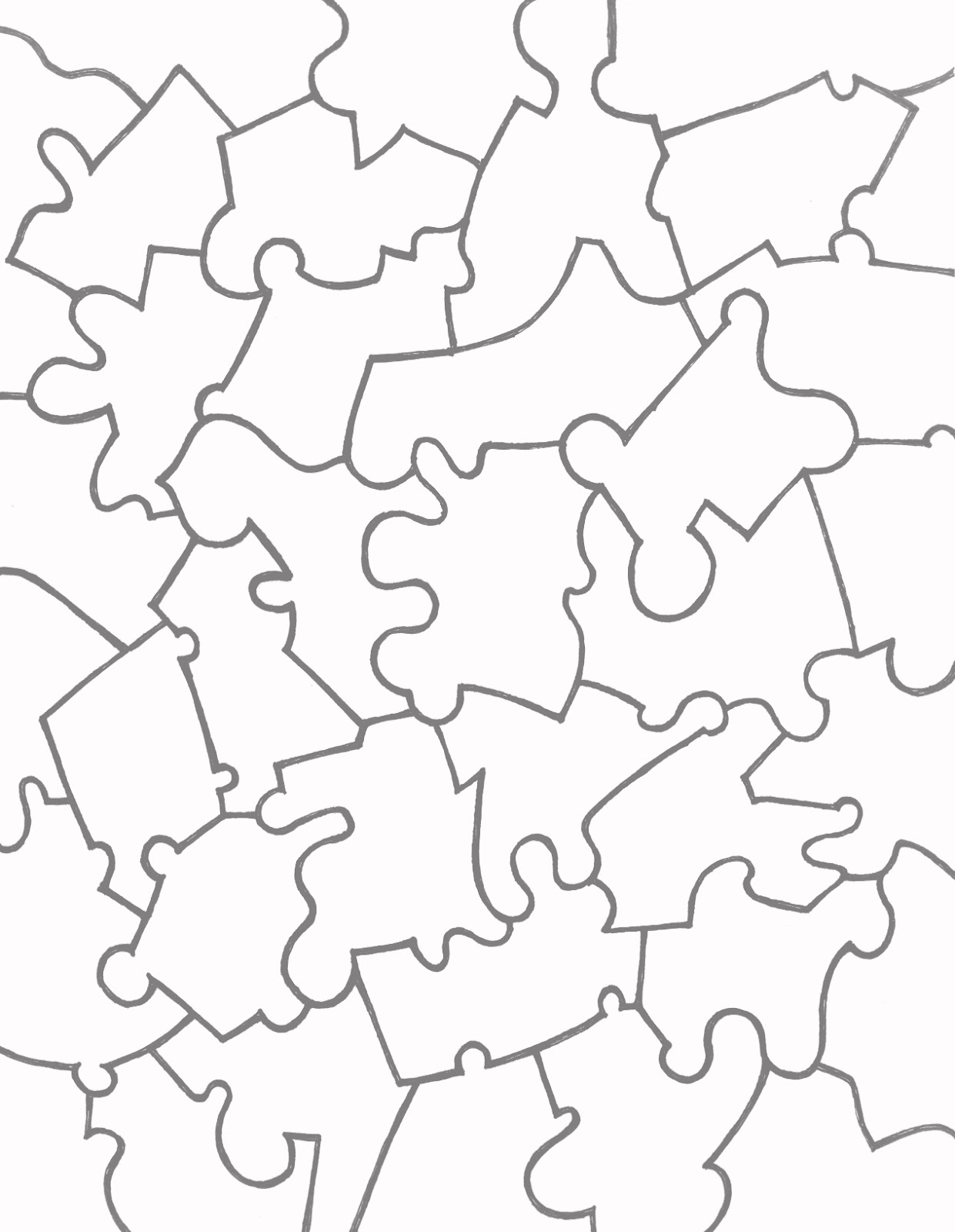 Puzzle Piece Drawing At Getdrawings