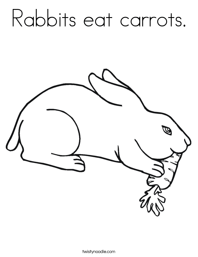 rabbit eating carrot drawing at getdrawings  free download